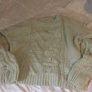 Mint green sweater size medium